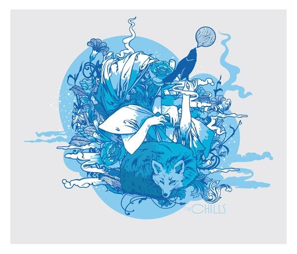 Иллюстрация в голубых тонах