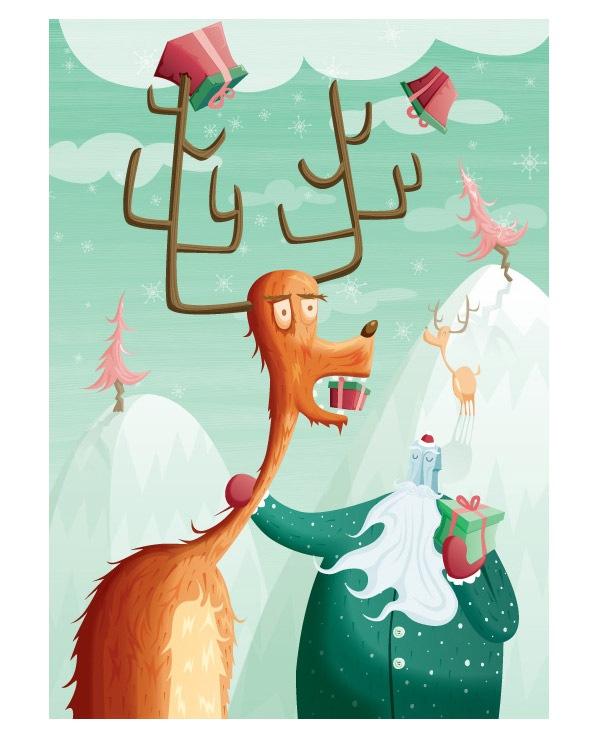 Олень Деда Мороза