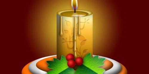 Создайте симпатичную новогоднюю свечу в Фотошопе