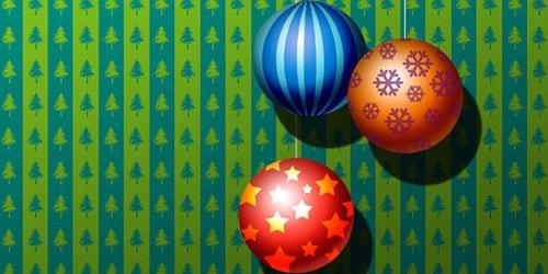 Новогодние шары в узорах