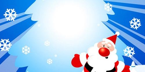 Танцующий Санта и новогодняя елка