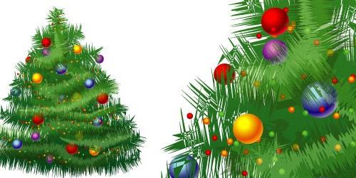 Иллюстрация новогодней елки