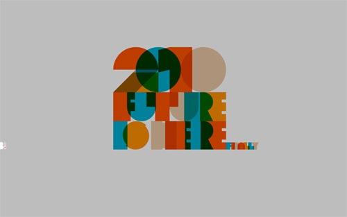 Ретро типографические шрифты на обоях 2010