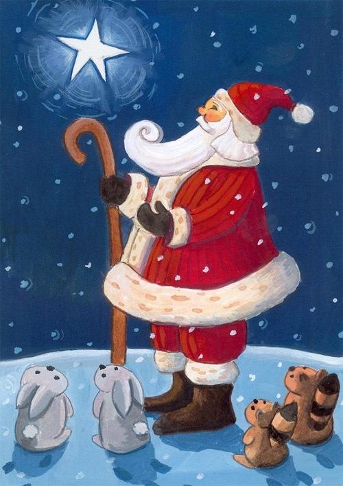 Санта и звезда