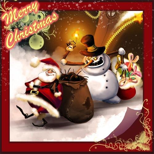 Дьявольский снеговик и Санта