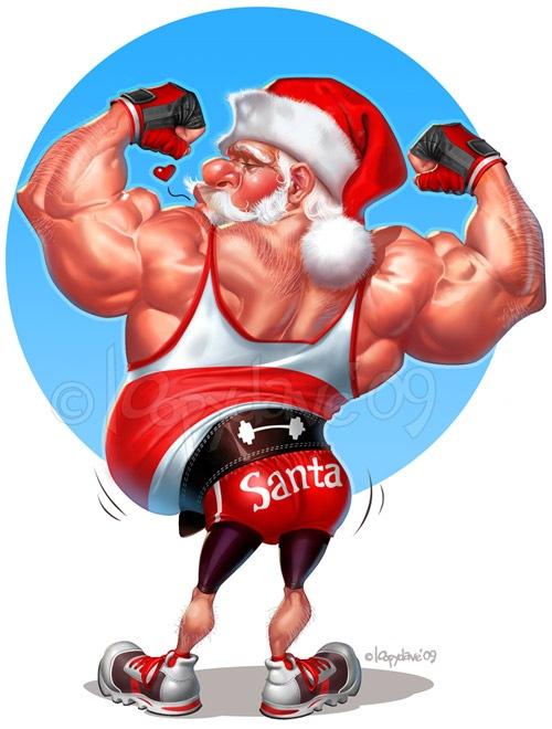 Накачанный Санта