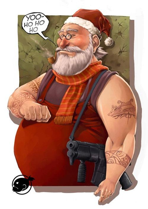 Санта гангстер