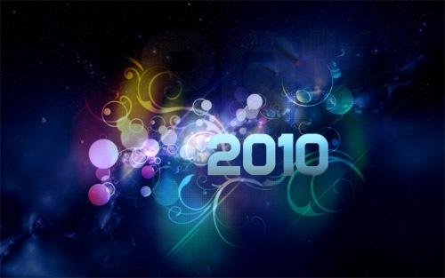 Элементы блеска и света в обоях к 2010 году