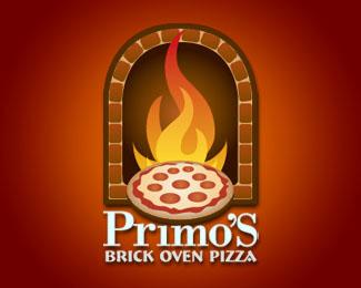 иллюстрация пиццы в лого