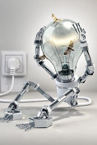 3D робот-лампочка