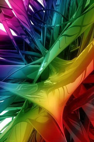 всплеск красок в 3D