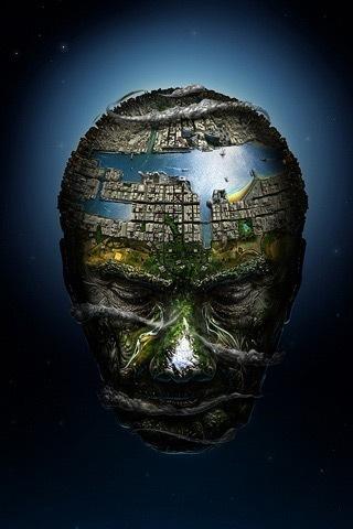 Мир в виде головы