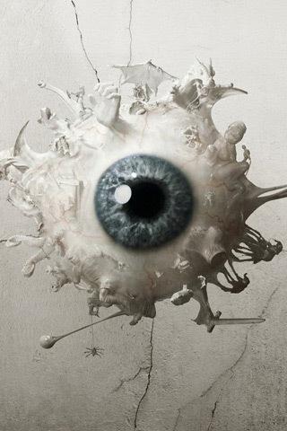 глаз на заставку iPhone