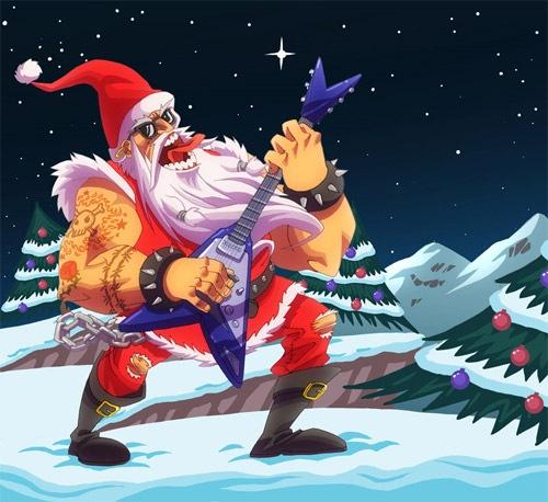Санта рок-звезда