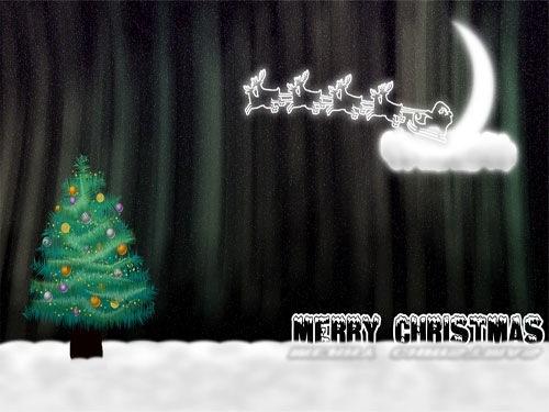 Иллюстрированные рождественские обои