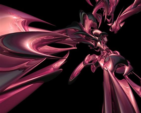 Розовые 3D обои