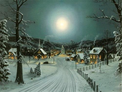 Рождественский вечер в долине