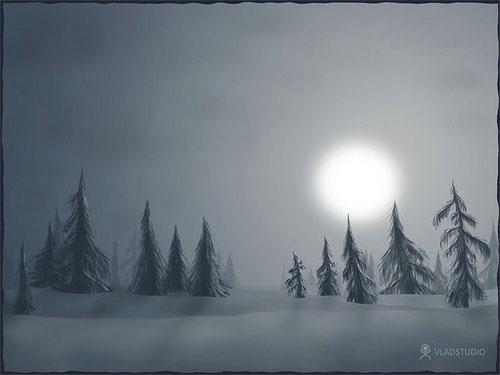 Снег в лунном свете