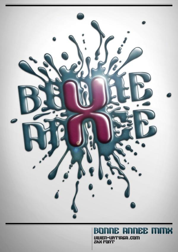 Типографичекий постер с потеками краски