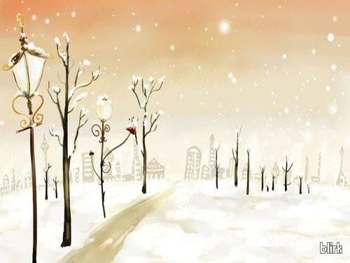 Магический город в Рождество