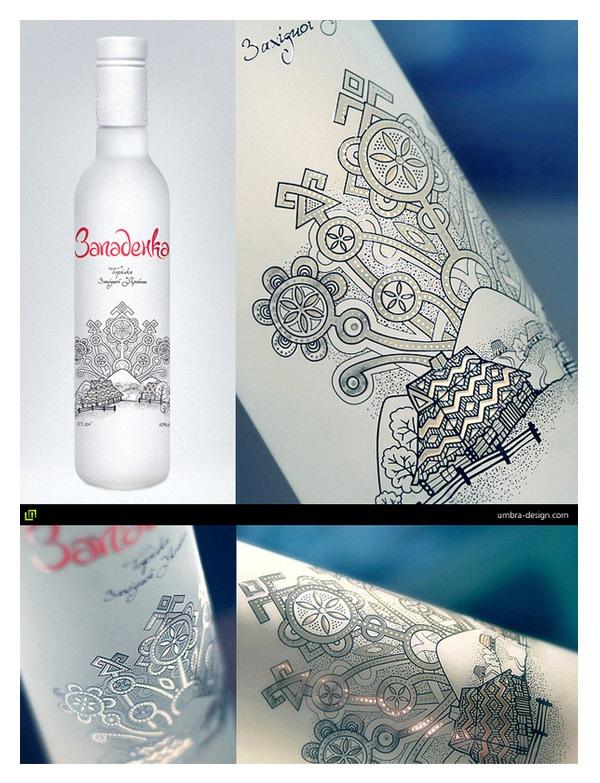 Векторная иллюстрация на бутылочной этикетке