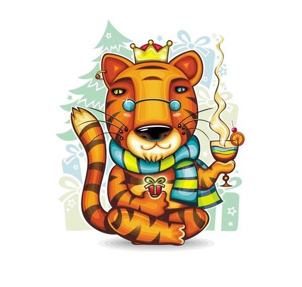 Векторный тигр