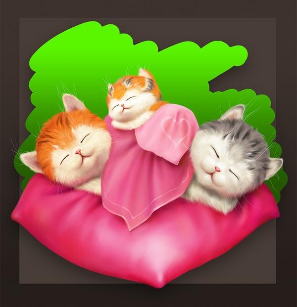 Любящие котята