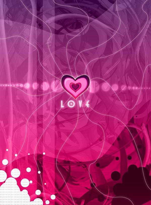 блестящее пурпурное сердце