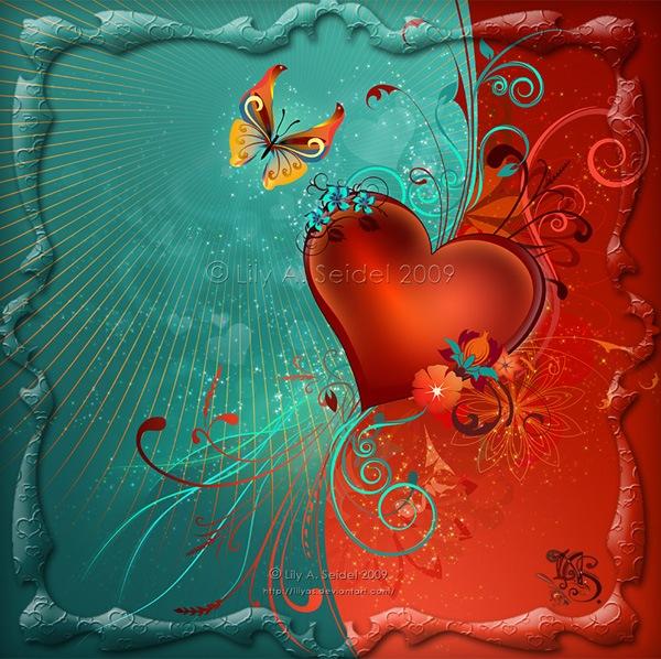 Валентинка с сердцем