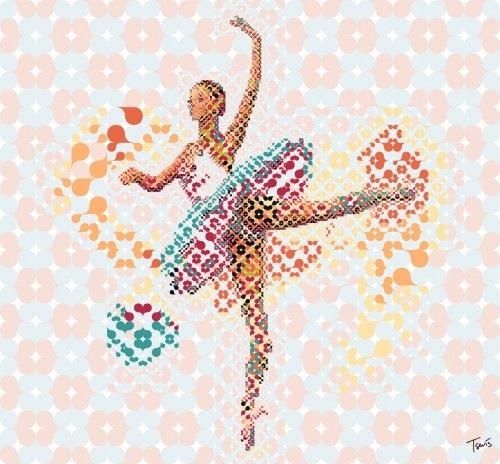 балерина из цветов