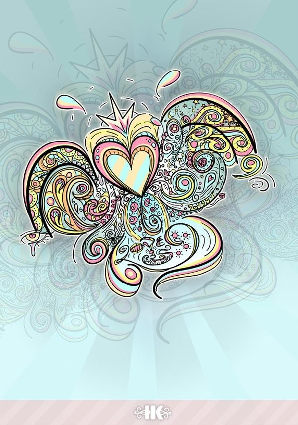 векторные иллюстрации к дню Валентина