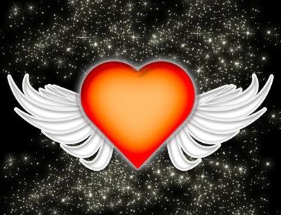 Сердце ангела в Фотошопе