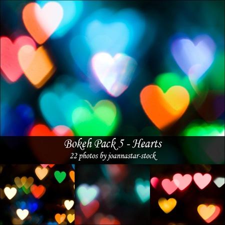 Набор с мерцающими сердцами