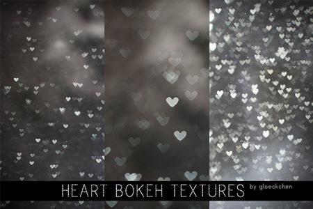 Текстуры с блестящими сердцами