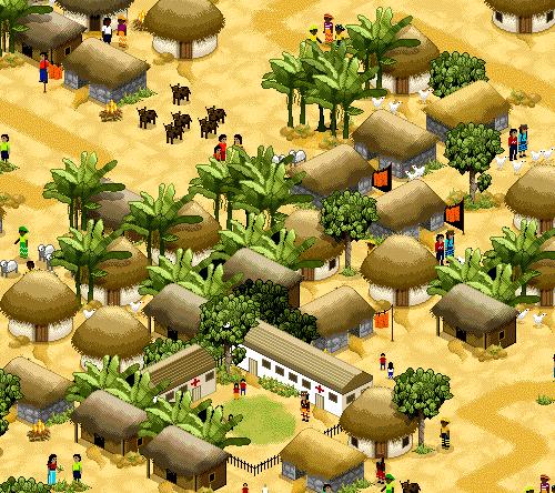 Деревня из пикселей