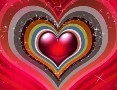 красочный фон к дню Св. Валентина
