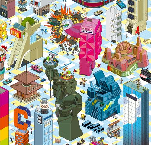 постер из пикселей