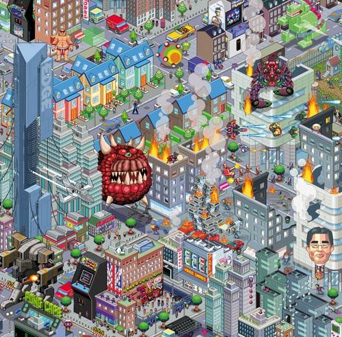 Пиксельный постер