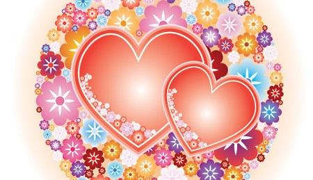 Сердца в цветах