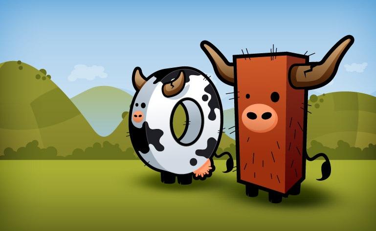 креативные мультяшные коровы