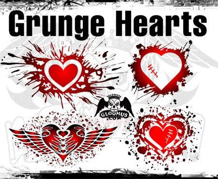 Сердца в стиле гранж
