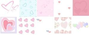 Паттерны сердец в пастельных тонах