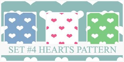 Паттерны в форме сердец