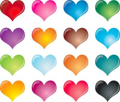 Набор векторных сердец