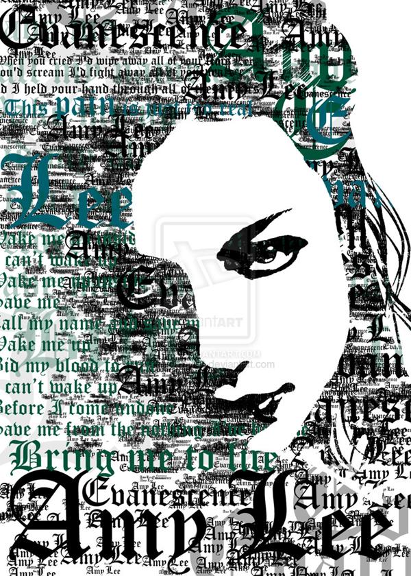 Типографический портрет Эми Ли