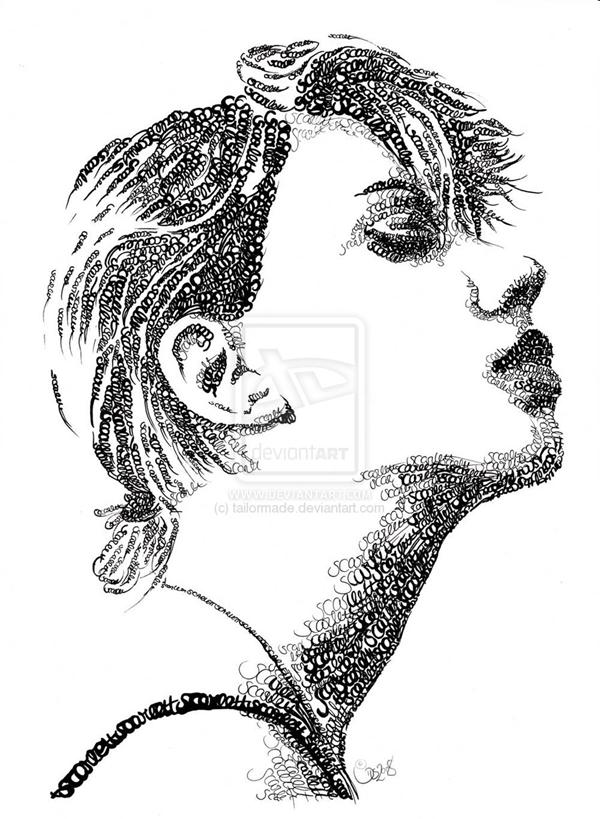 лицо из типографики