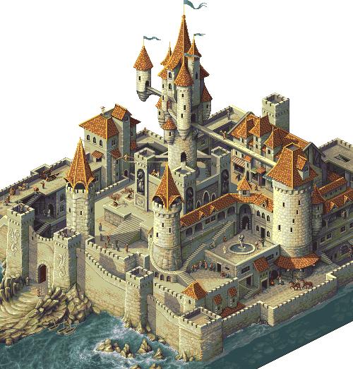 Еще один пиксельный замок