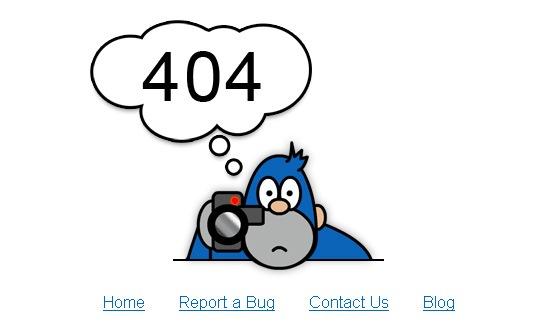 Иллюстрированная страница ошибки 404
