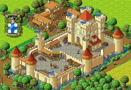 Пиксельный замок