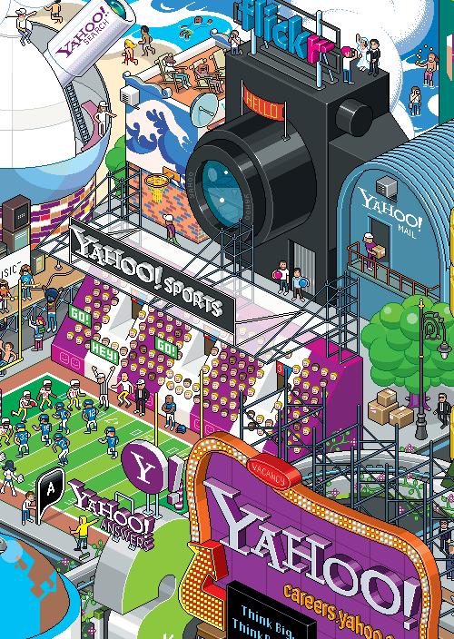 пиксельный постер Yahoo